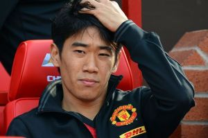 Shinji Kagawa spent alot of time on the United bench  (Image from Getty)