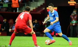 Winger Konoplyanka is one of several Dnipro players who are likely to leave in the summer (Image from EPA)