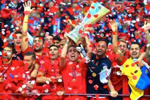 Seville win a record fourth Europa Cup title (Image from Getty)