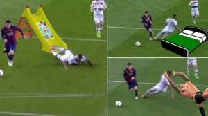 Some of the meme's created by users following Boateng's falling over due to Messi's trickery  (Image from Twitter)