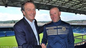 The Inexperienced Hockaday with owner Celino  (Image from Leeds United)
