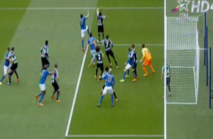 Newcastle's positioning is all wrong for Leicester's first goal  (Image from Getty)