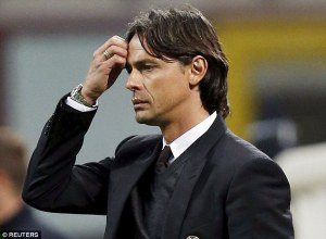 Inzaghi failed to deliver the change in fortunes that AC Milan needed  (Image from Reuters)