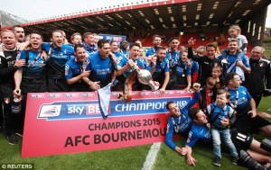 Bournemouth were promoted as Championship winners  (Image from Getty)