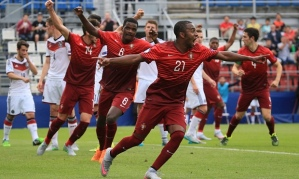 Ricardo Pereira (21) turns away to celebrate after putting Portugal 2-0 up (Image from Getty)