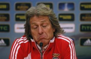 Benfica's coach Jorge Jesus is leaving to join Sporting Lisbon (Image from REUTERS/Rafael Marchante)