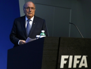 A weary Sepp Blatter resigns from FIFA (Image from Getty)