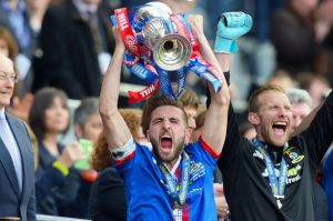 Inverness Caley Thistle celebrate their Scottish Cup win  (Image from PA)
