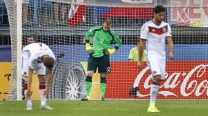 Ginter (bending over) and ter Stegen were unable to stop Portugal in the semi final  (Image from Getty)