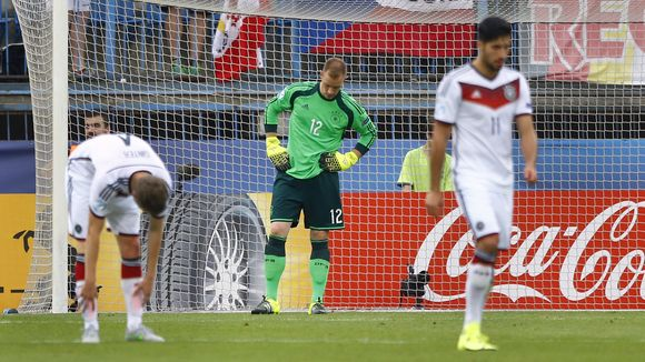 Ginter (bending over) and ter Stegen were unable to stop Potugal in the semi final (Image from Getty)