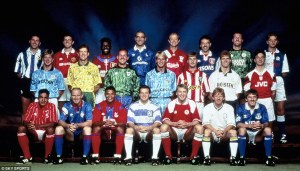 The 22 stars of the original Premier League advert  (Image from Getty)