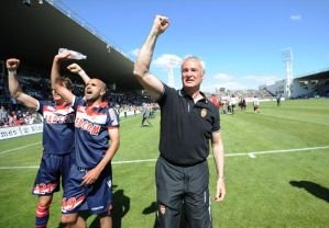 Monaco under Ranieri seal the Ligue 2 title (Image from Getty)