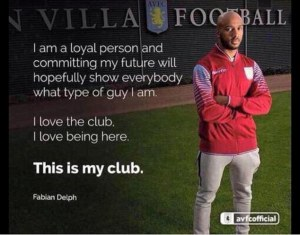Delph's released the above quote after signing his new deal in January  (Image from Getty)