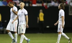 Down and Out - The US players leave the pitch shell shocked  (Image from Getty)