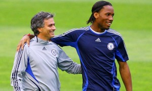 Mourinho and Drogba forged a strong friendship at Chelsea  (Image from Stu Forster/Getty Images )