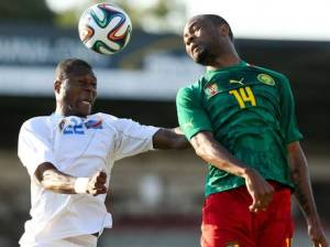 Mbemba in action for DR Congo  (Image from Getty)