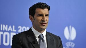 Will Luis Figo step into Platini's UEFA shoes?  (Image from Getty)