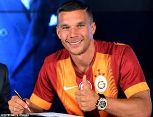 Lukas Podolski has joined Gala from Arsenal (Image from Getty)