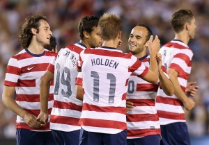 The US squad looks remarkably different now without the likes of Donovan and Holden  (Photo by Jeff Gross/Getty Images)