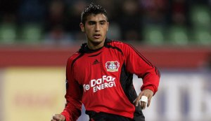 A young Vidal playing for Bayer Leverkausen  (Image from Getty)