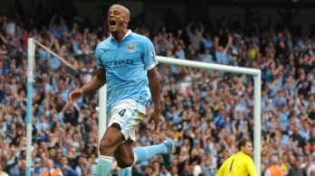 Kompany scores as City win 3-0 (Image from PA)