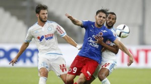 Marseille and Caen clashed on the opening day of the season (Image from PA)