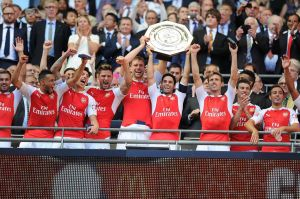 Advantage Wenger as Arsenal lift Community Shield (Image from PA)