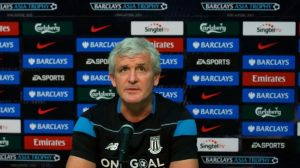 Mark Hughes is slowly building an impressive team at Stoke (Image from PA)