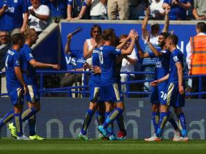 leicester go top after 4-2 win (Image from PA)