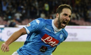Higuain was on target as Napoli beat Juventus 2-1 (Image from Getty)