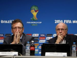 Tough at the top - Valcke and Blatter (Image from Getty)