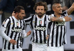 The loss of Tevez, Pirlo and Vidal is being felt by Juventus this season (Photo by Claudio Villa/Getty Images)