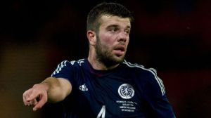 Defenders like Grant Hanley are good yet unconvincing for Scotland (Image from Getty)