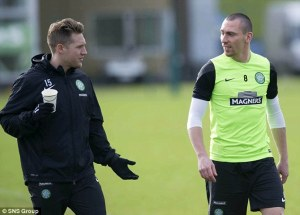 Commons like Brown (also pictured) holds a lot of influence in the Celtic dressing room  (Image from Getty)