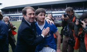 Kendall and Paul Bracewell celebrate in 1985  (Image from PA)
