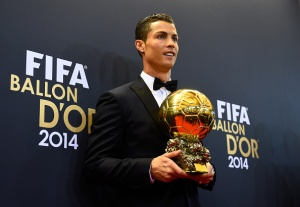 Last year's winner Cristiano Ronaldo is looking to make it three in a row at this years event (Photo by Mike Hewitt - FIFA/FIFA via Getty Images)