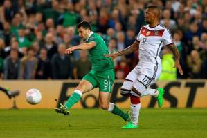 Shane Long fires Ireland's winner against Germany so why couldn't Scotland do similar? (Image from Getty)