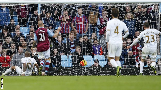 Andre Ayew scores Swansea's second to sink Sherwood (Image from Getty)