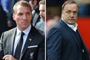 Fellow victims of the Moneyball effect? Rodgers and Advocaat  (Image from AFP)
