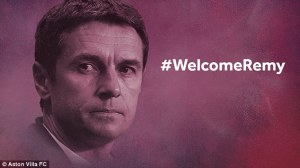Not a great start as the club misspells Garde's first name in its official tweet  (Image from AstonVillaFC)
