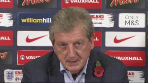 Hodgson seems less than impressed by Vardy (Image from AFP)