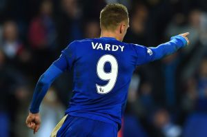 Vardy's goalscoring run continues against Watford (Image from PA)
