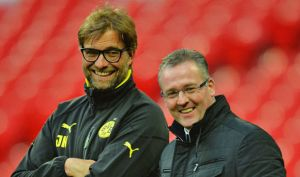 During his travels. Lambert spent time shadowing Klopp at Dortmund (Image from Getty)