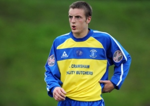 Vardy during his Stocksbridge days (Image from PA)