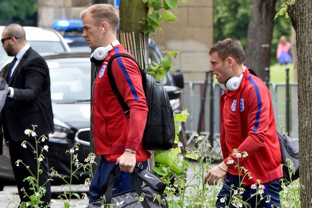england-players-arrive-back-from-st-etienne-to-team-hotel-in-chantilly