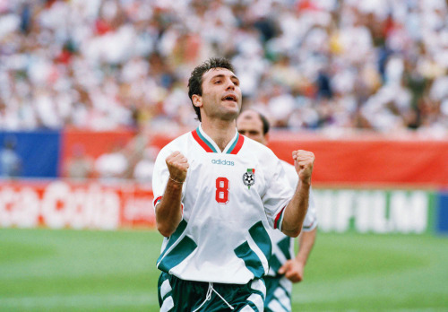 Il bulgaro Hristo Stoitchkov. (AP Photo/Denis Paquin)