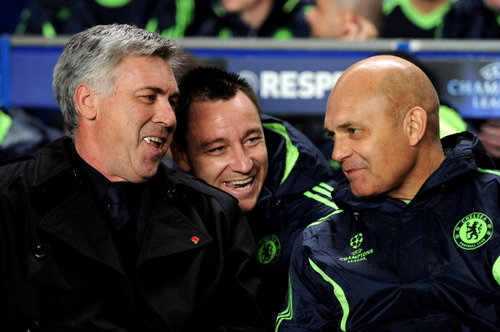 Ancelotti and Wilkins during their Chelsea days (Image from Tumblr)