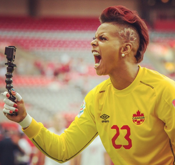 Passion is something that Karina has never lacked (Image from Karina LeBlanc's instagram)