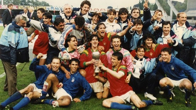Italy beat Luis Figo's Portugal to win the Under 21's European Championship (Image from UEFA)
