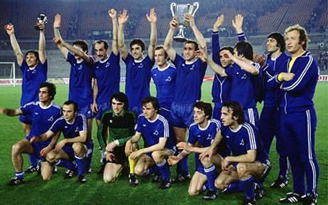 Zurab's father wins the UEFA cup with Dinamo Tbilisi (image from Zurab's Instagram)